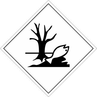 marine pollutant placard, marine pollutant mark, environmentally hazardous substance placard