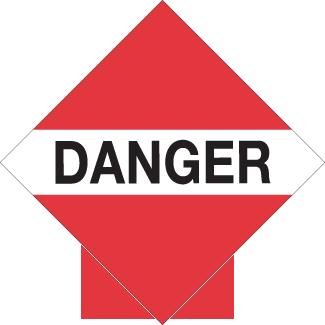 TDG Danger placard BC, Canadian danger placard, road danger placard, hazmat danger placard Alberta