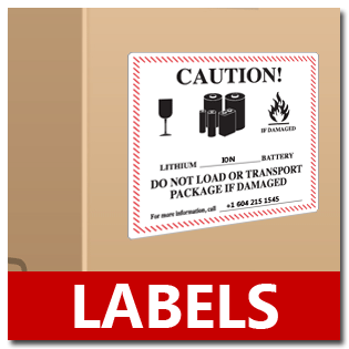 lithium battery label, lithium batteries label
