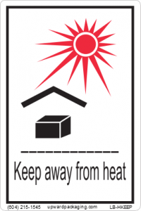 keep away from heat label, organic peroxide heat label, organic peroxide handling label