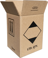 limited quantity box, ltd qty packaging, exempt packaging, ltd qty box