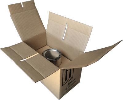 4G UN box quart can, paint can 4G UN box, 2 quart UN box, 2 x 1 quart UN box, 4G paint kit