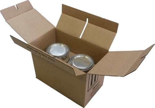 quart paint can 4G UN box, quart can 4G UN packaging, quart 4G boxes