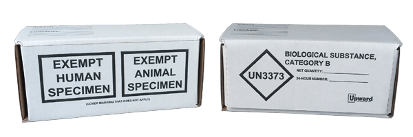 Category B boxes, UN3373 boxes, biological boxes, exempt specimen kit, Category B shipping boxes, IATA Category B box, Biological substance shipping boxes, UN3373 shipping boxes, exempt specimen shipping boxes, exempt specimen box